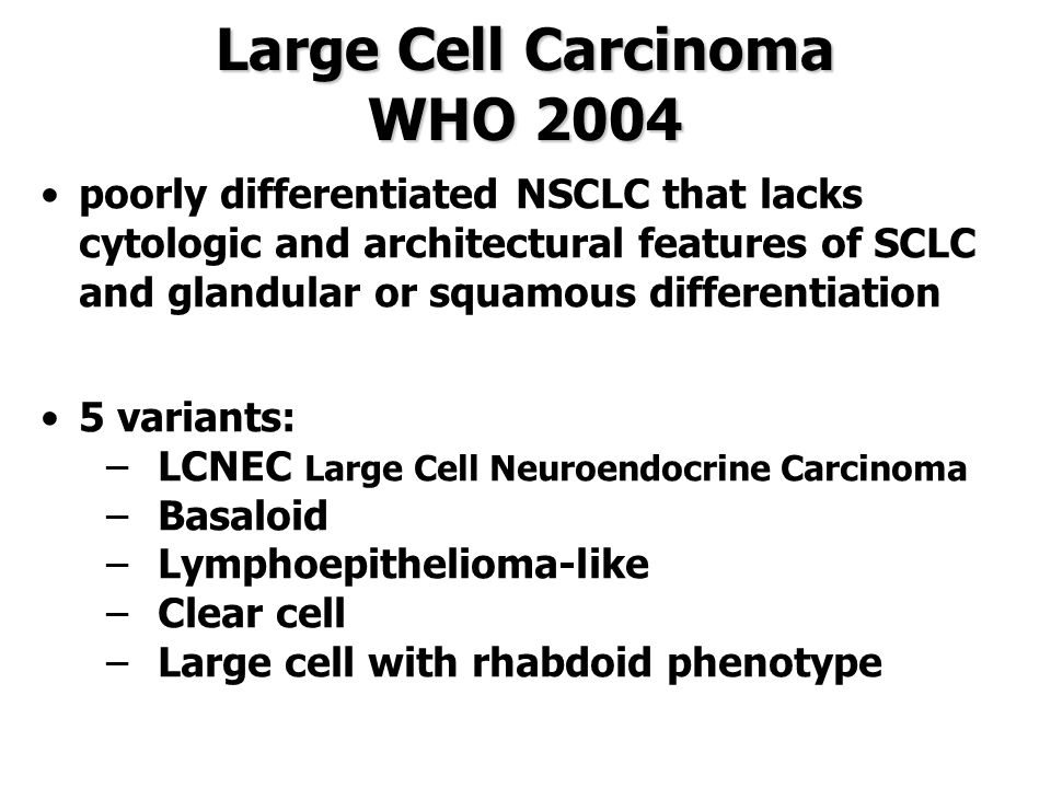 Large Cell Carcinoma WHO 2004