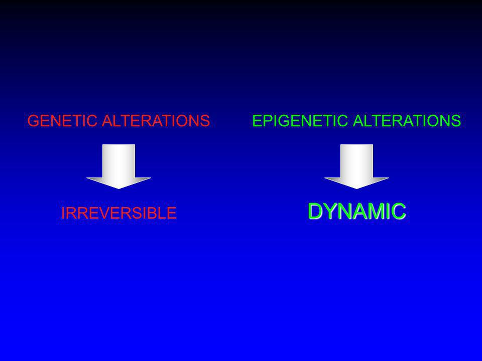 EPIGENETIC ALTERATIONS