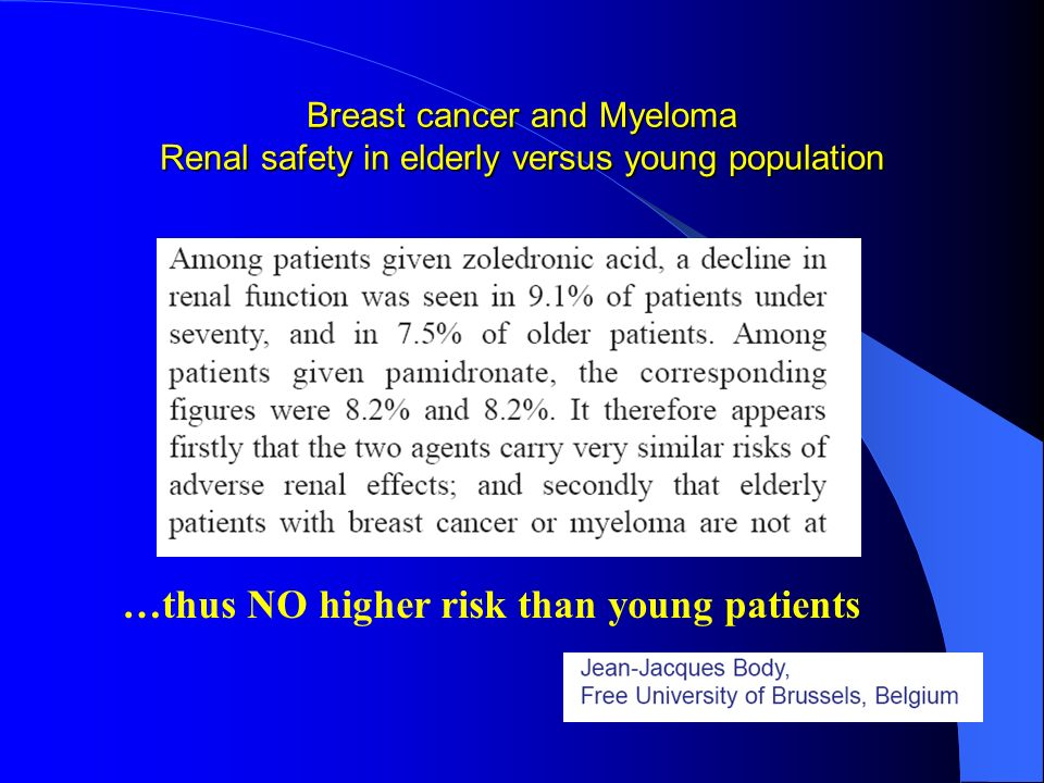 …thus NO higher risk than young patients