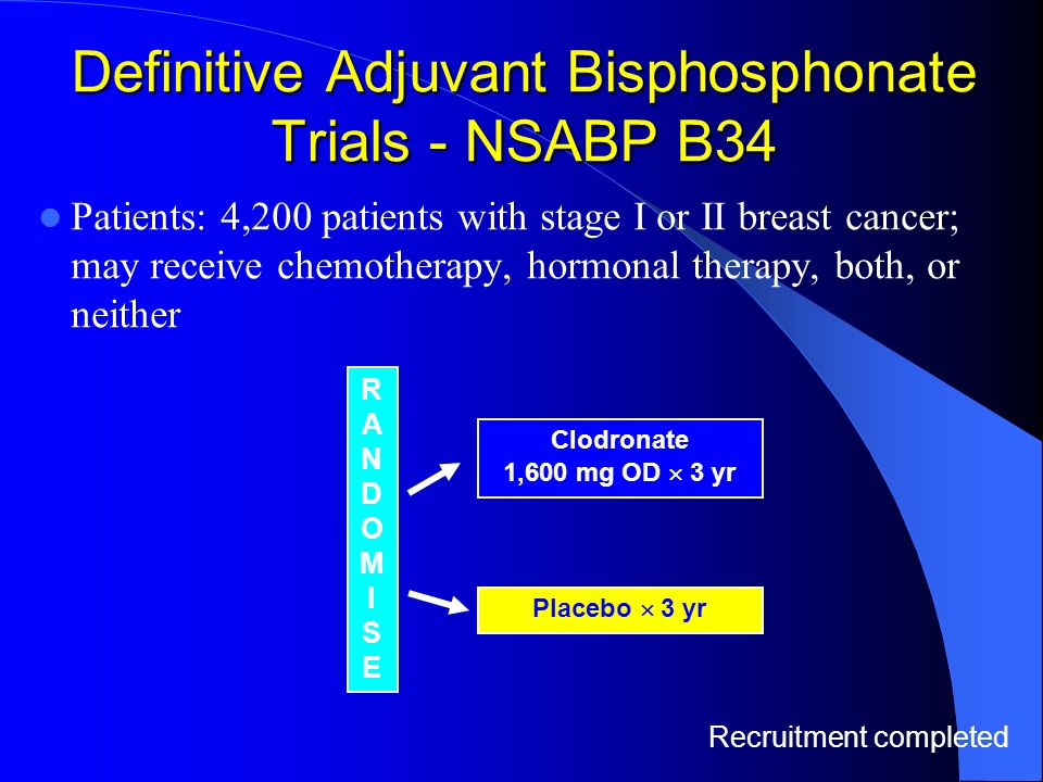 Definitive Adjuvant Bisphosphonate Trials - NSABP B34