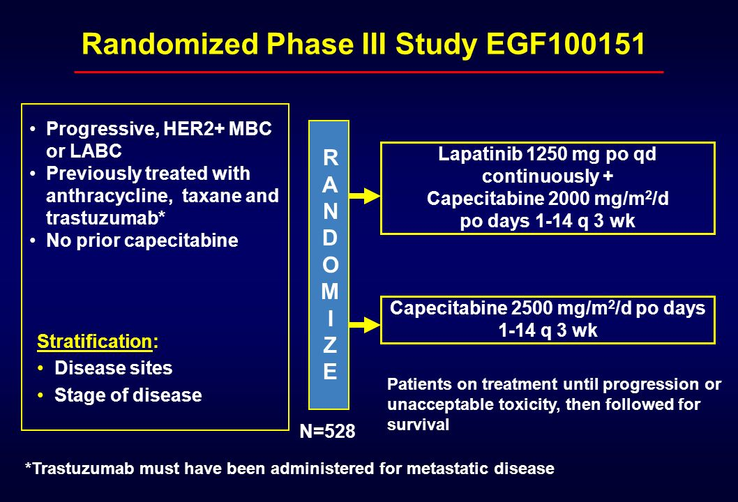 Randomized Phase III Study EGF100151