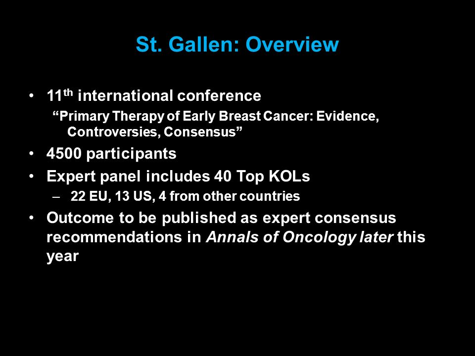 St. Gallen: Overview 11th international conference 4500 participants