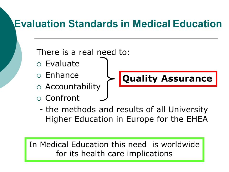 Evaluation Standards in Medical Education
