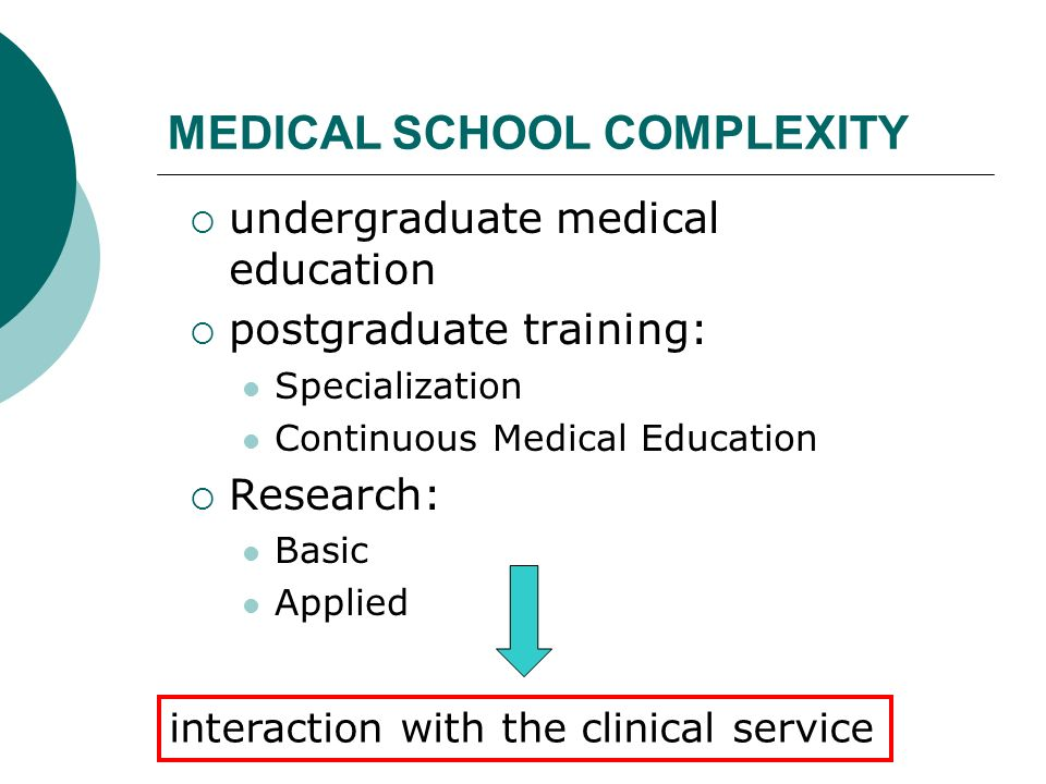MEDICAL SCHOOL COMPLEXITY