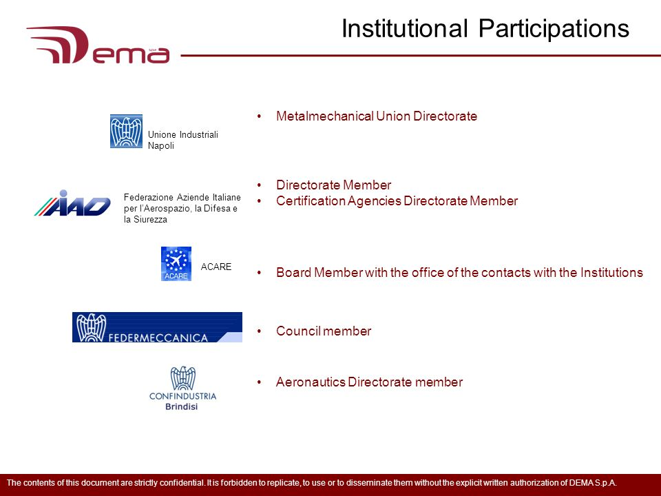 Institutional Participations