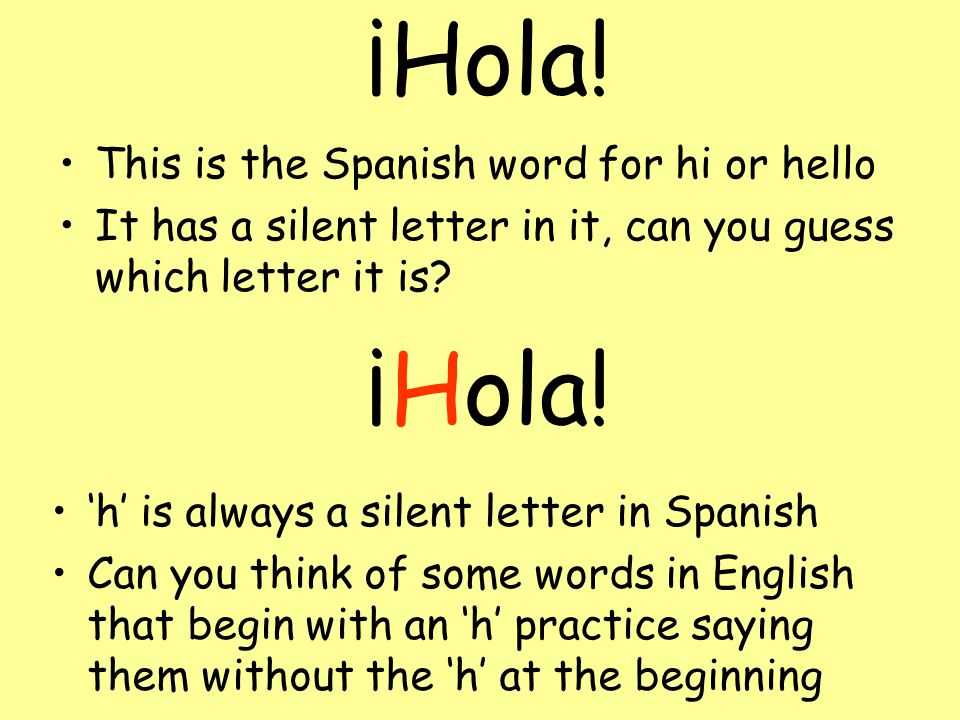 Greetings W.A.L.H. to greet people in Spanish   ppt download