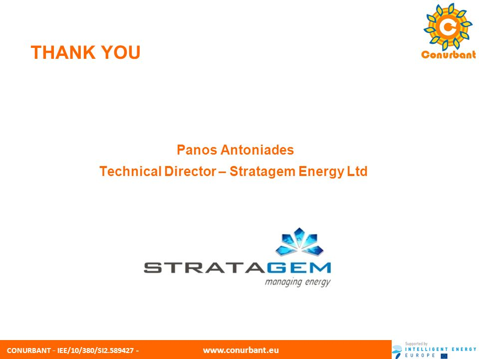 Panos Antoniades Technical Director – Stratagem Energy Ltd