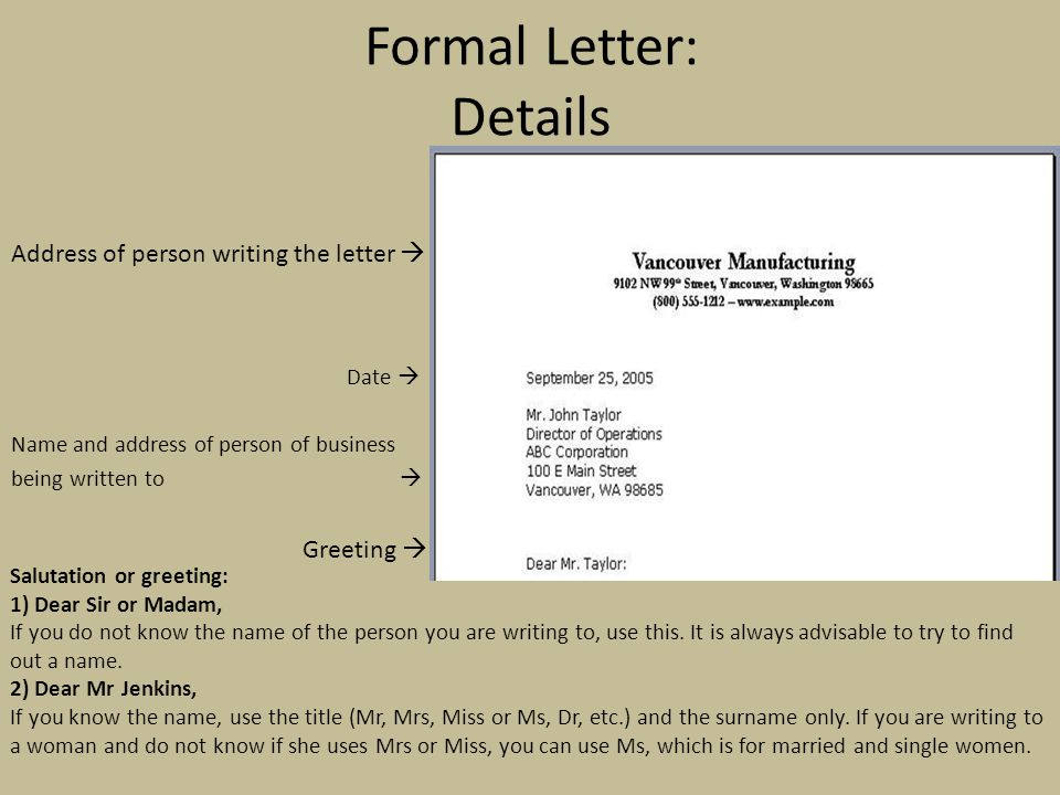 Formal Letter Opening Greetings from slideplayer.com