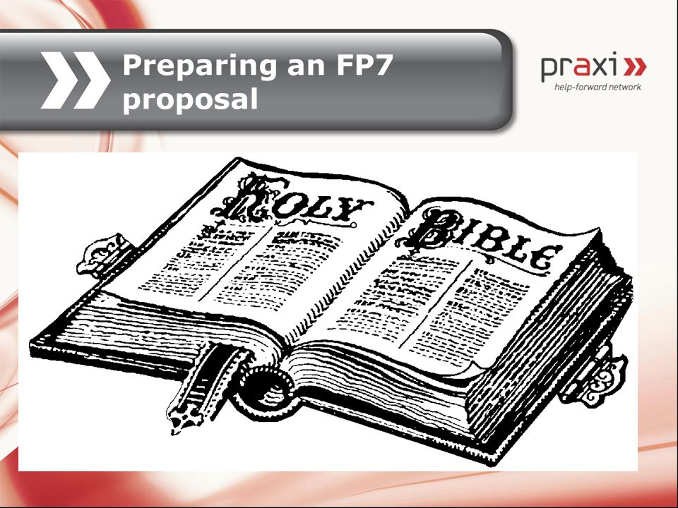 Preparing an FP7 proposal