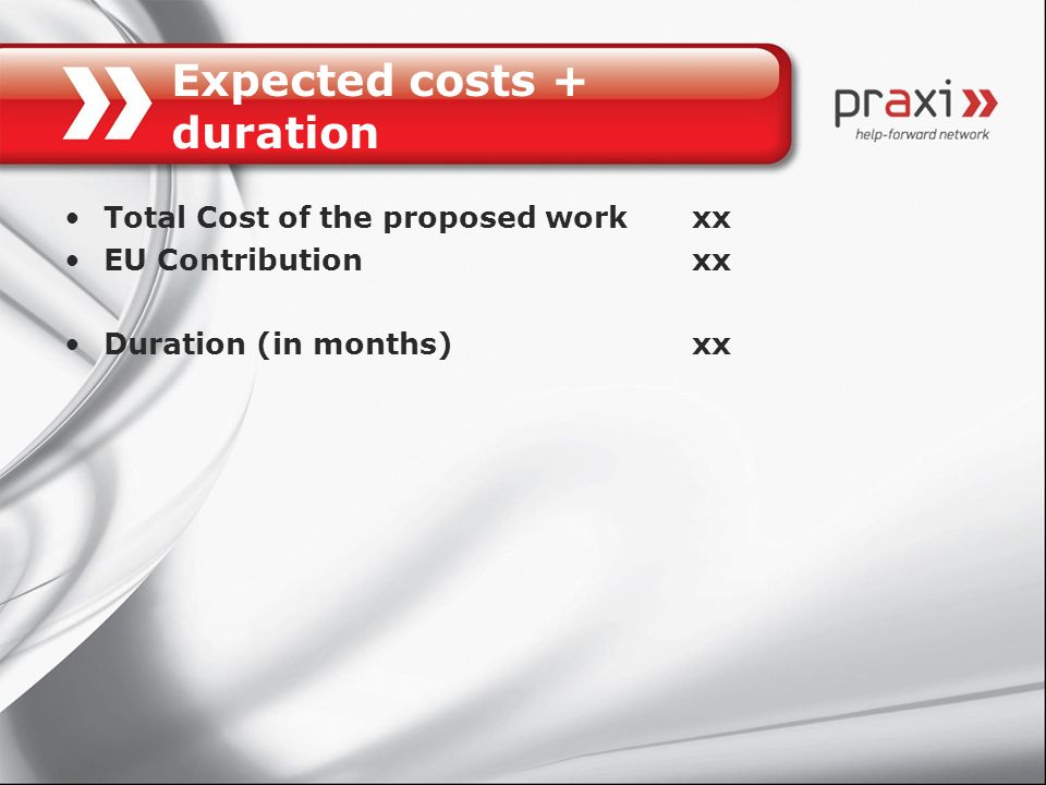 Expected costs + duration