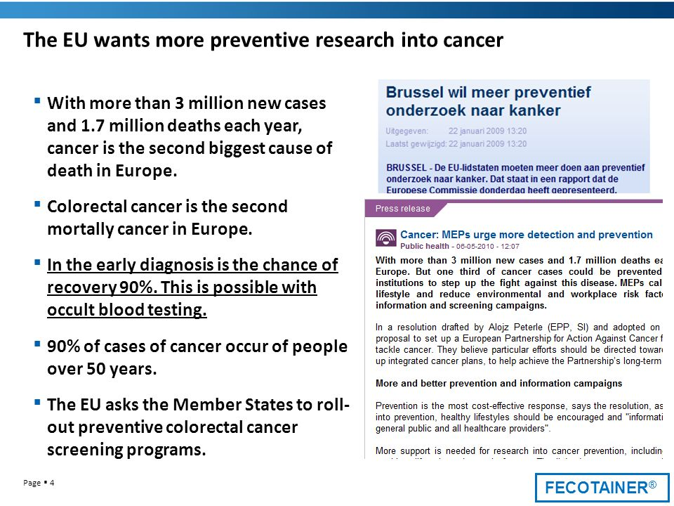 The EU wants more preventive research into cancer