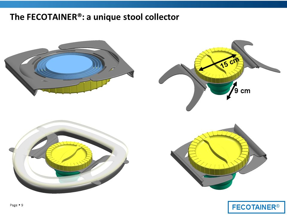 The FECOTAINER®: a unique stool collector