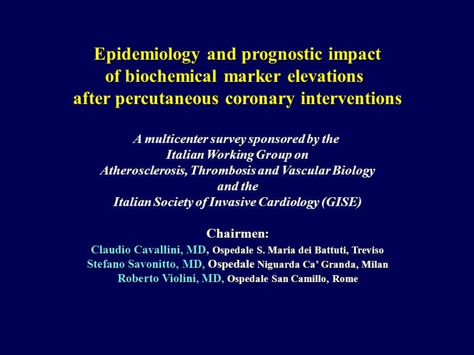 Epidemiology and prognostic impact of biochemical marker elevations