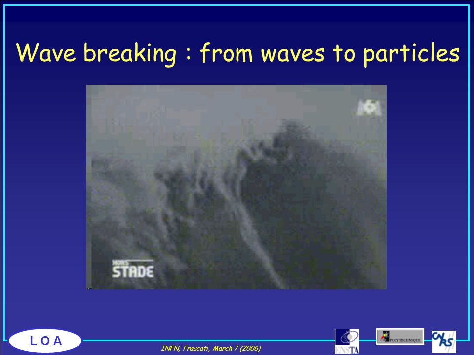 Wave breaking : from waves to particles