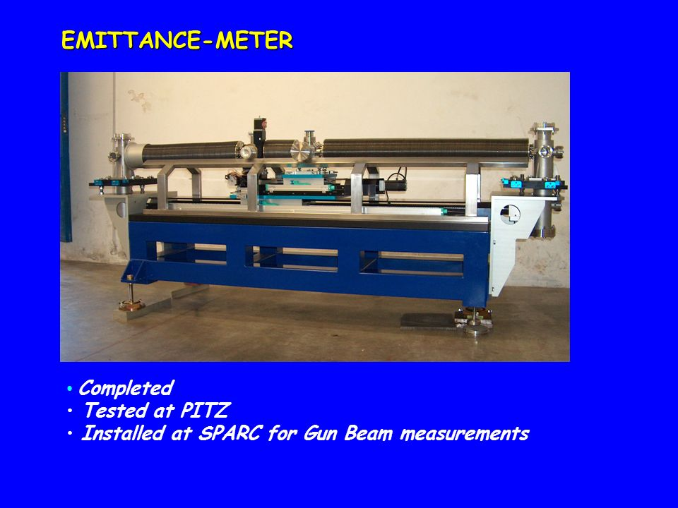EMITTANCE-METER Completed Tested at PITZ