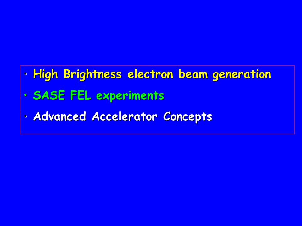 High Brightness electron beam generation