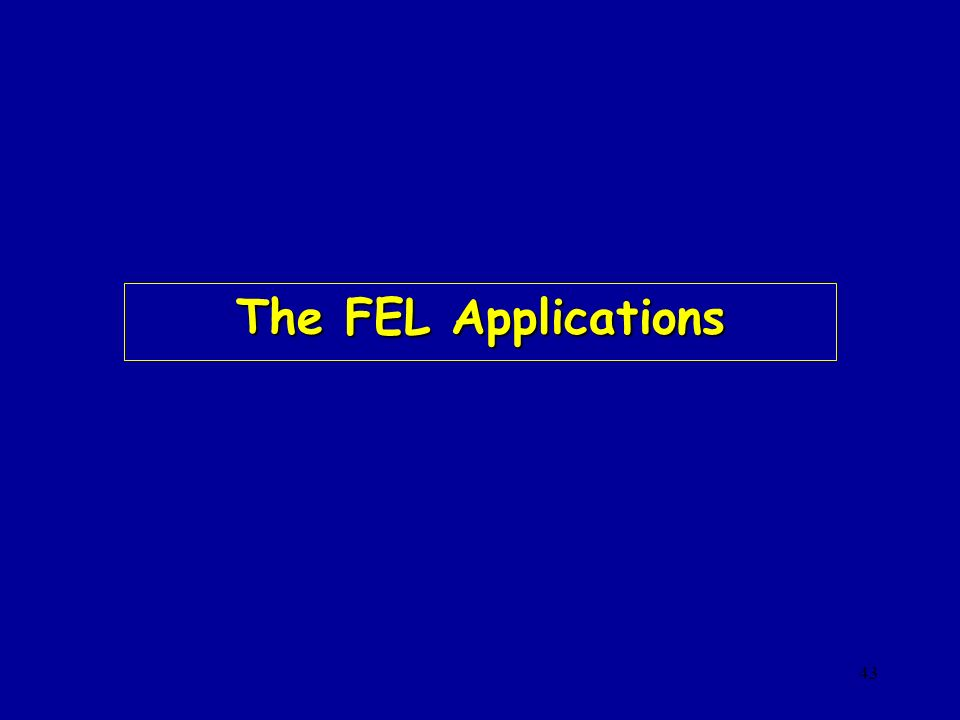 The FEL Applications prova