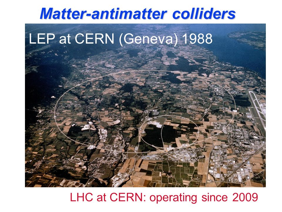Matter-antimatter colliders