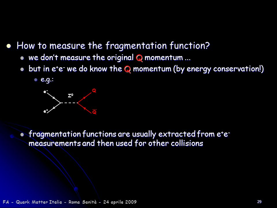How to measure the fragmentation function
