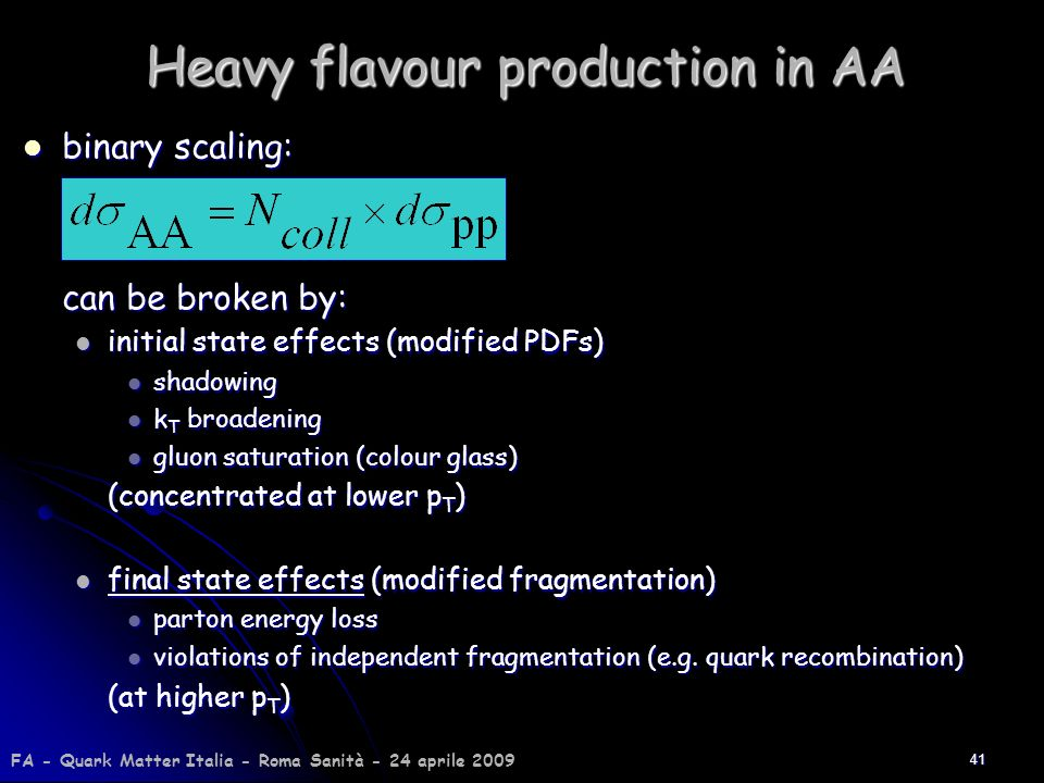 Heavy flavour production in AA