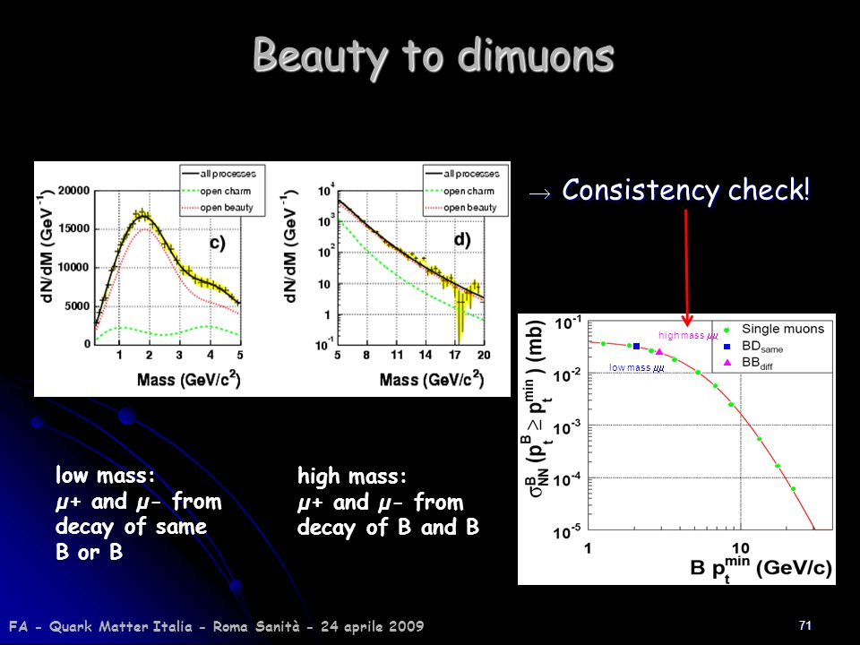 Beauty to dimuons Consistency check!