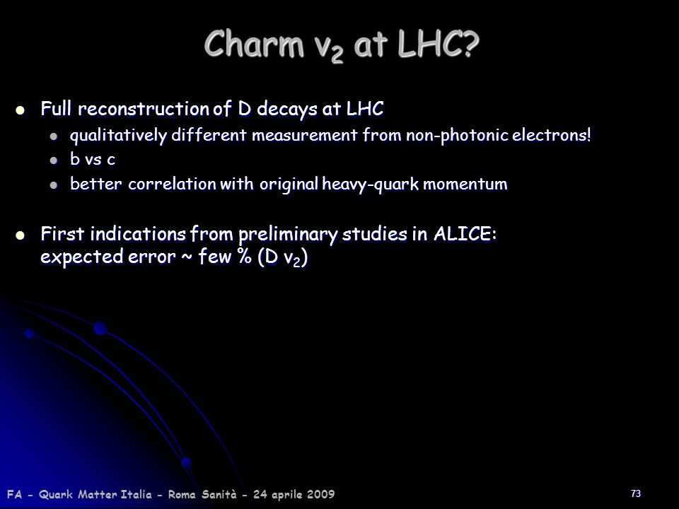 Charm v2 at LHC Full reconstruction of D decays at LHC
