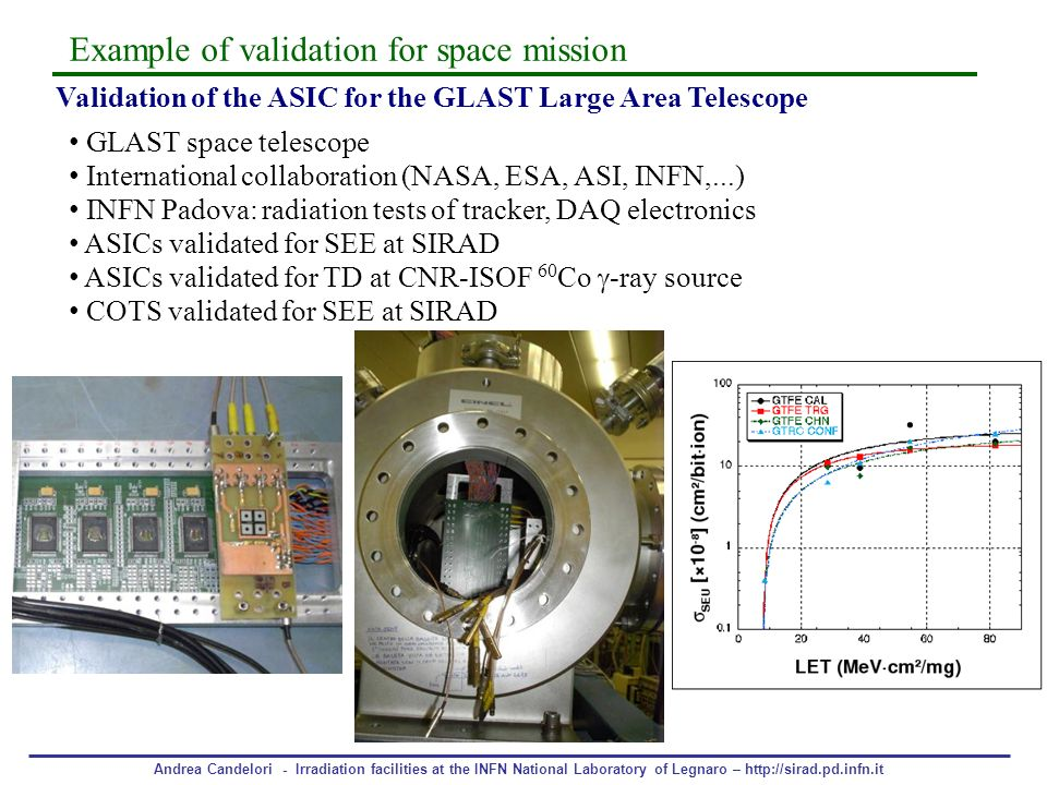 Example of validation for space mission