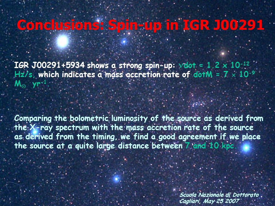 Conclusions: Spin-up in IGR J00291