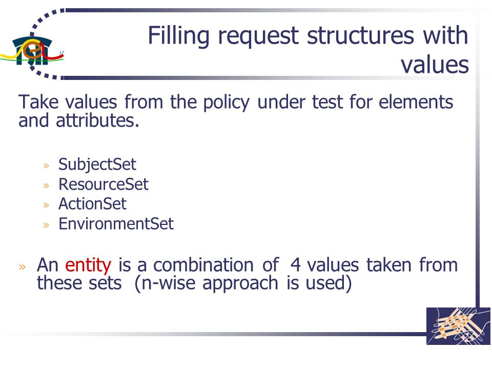 Filling request structures with values