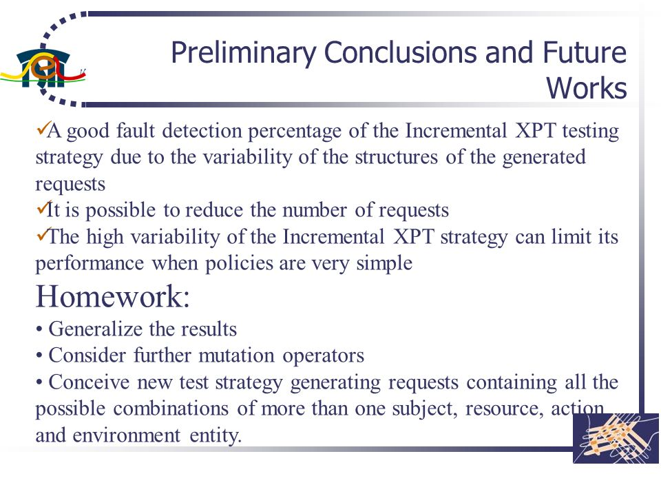 Preliminary Conclusions and Future Works