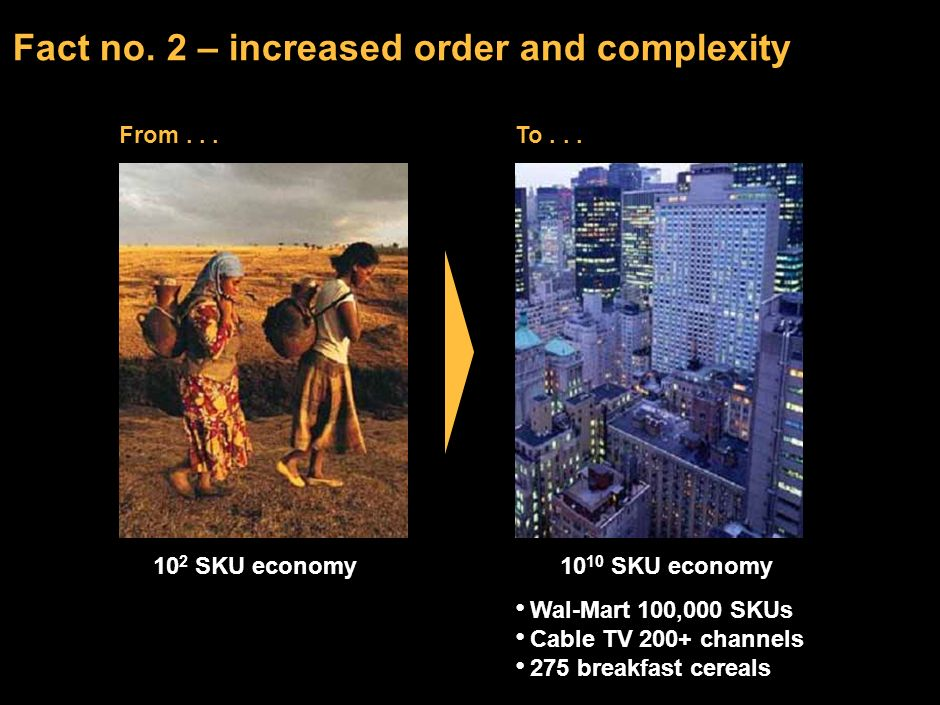Fact no. 2 – increased order and complexity