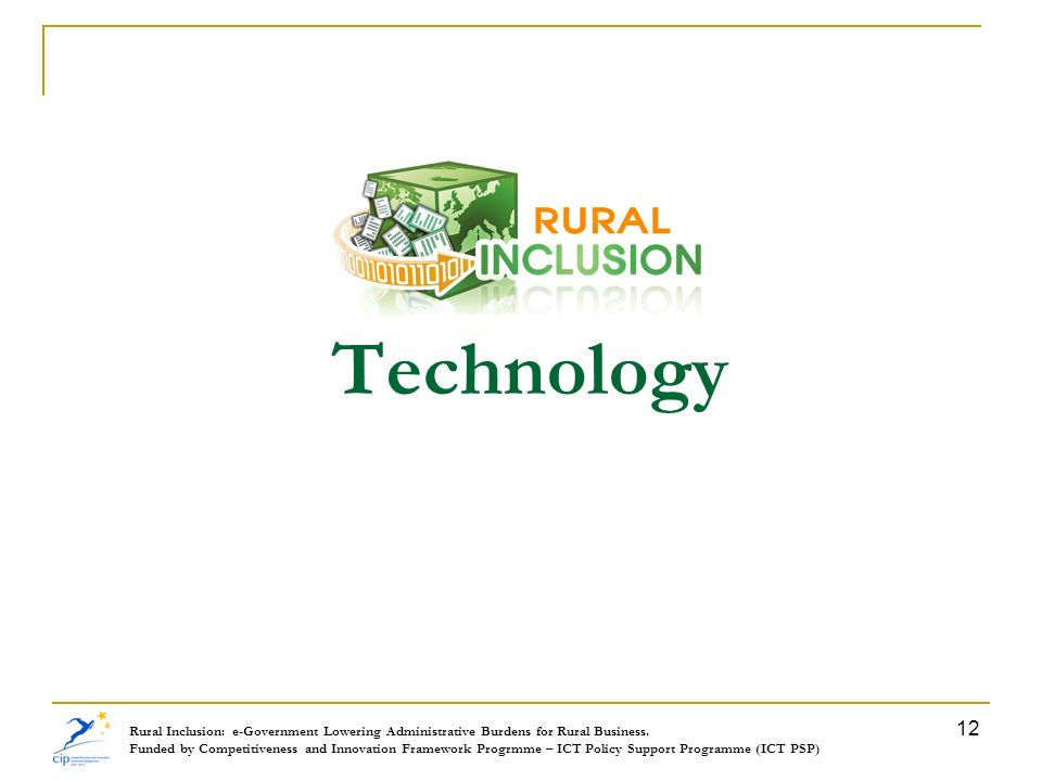 Technology Rural Inclusion: e-Government Lowering Administrative Burdens for Rural Business.