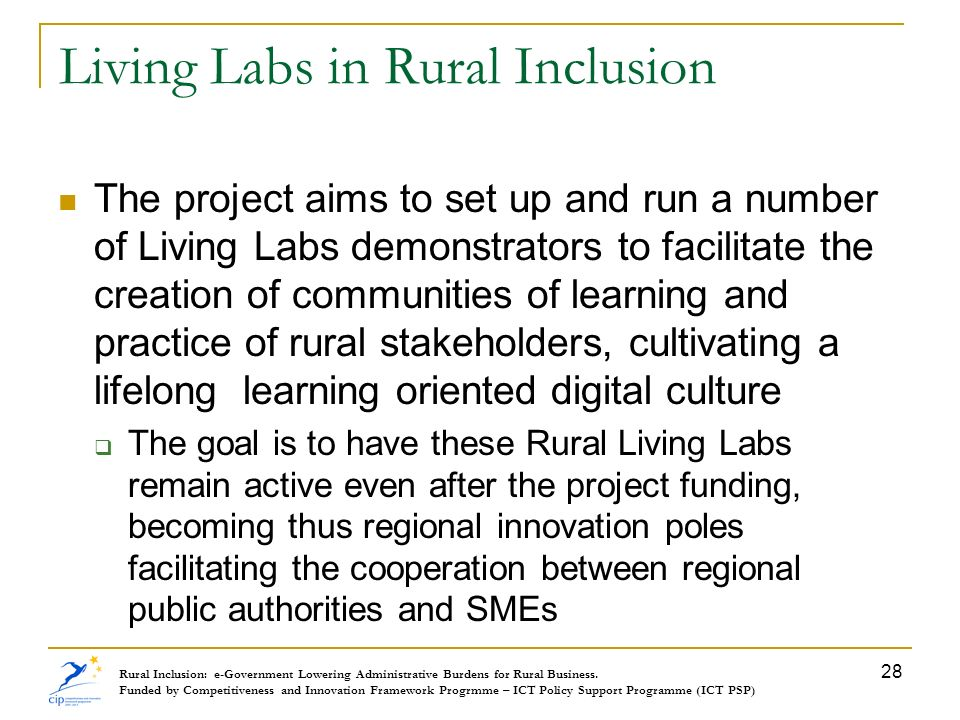 Living Labs in Rural Inclusion