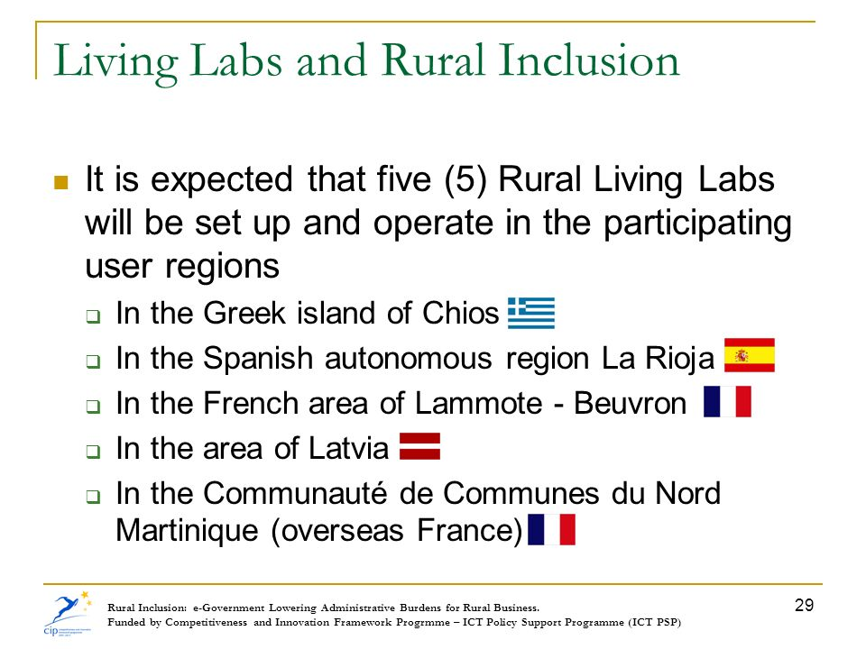 Living Labs and Rural Inclusion
