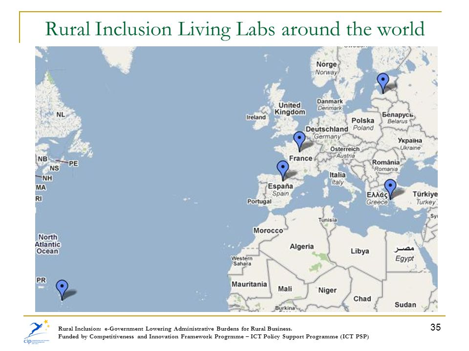 Rural Inclusion Living Labs around the world