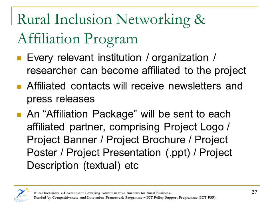 Rural Inclusion Networking & Affiliation Program