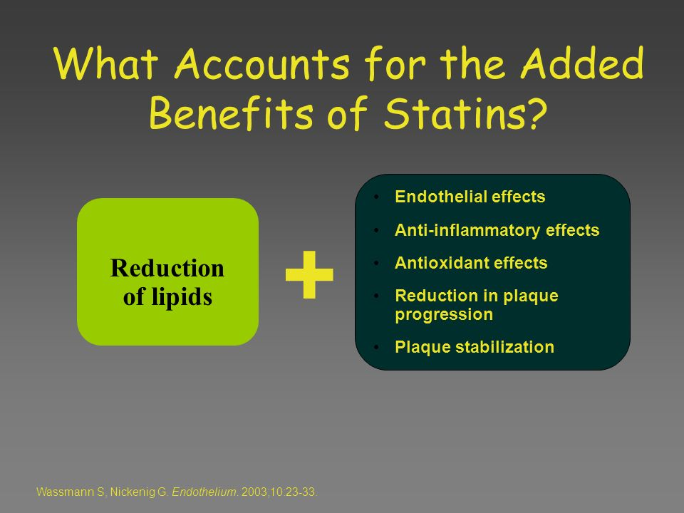 What Accounts for the Added Benefits of Statins