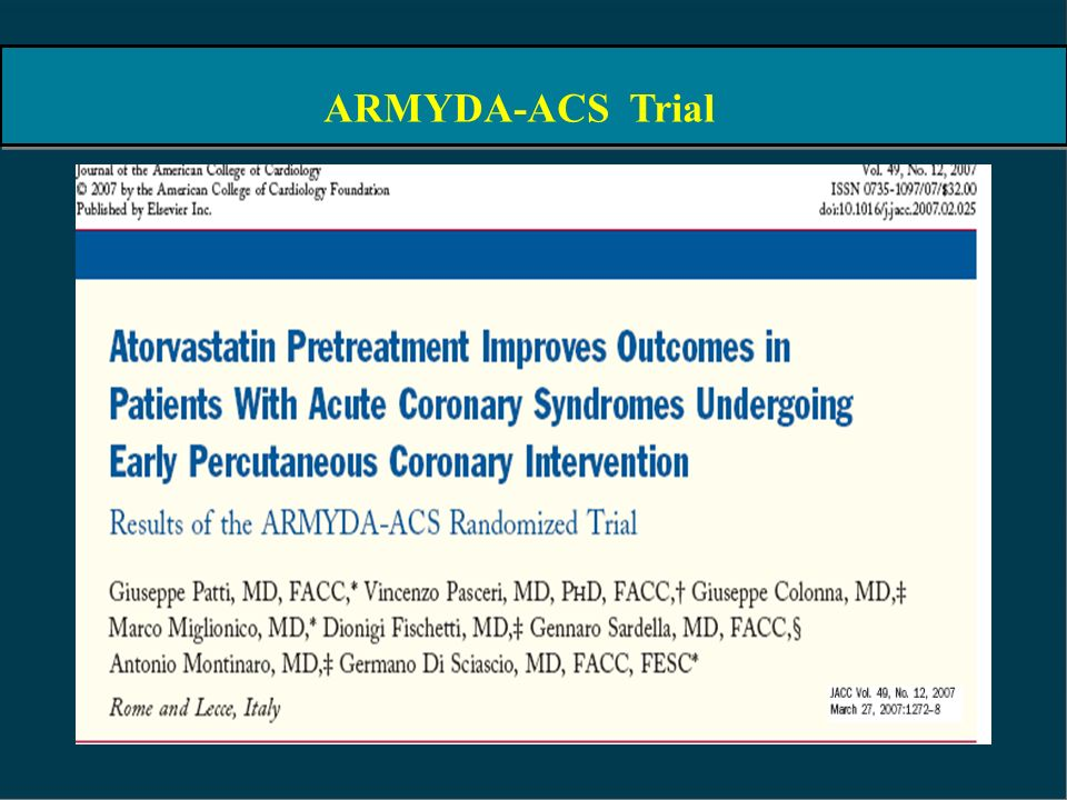 ARMYDA-ACS Trial