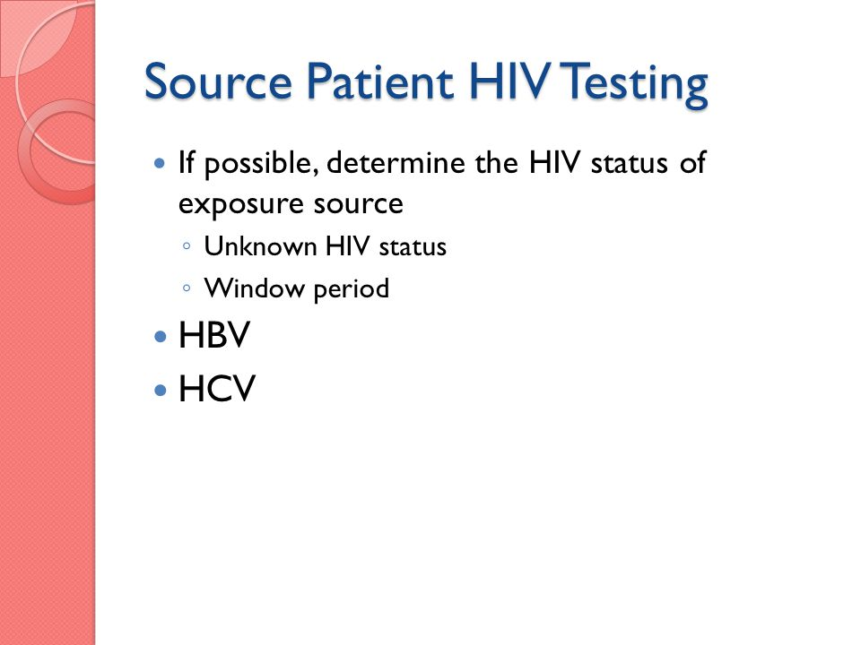 Source Patient HIV Testing