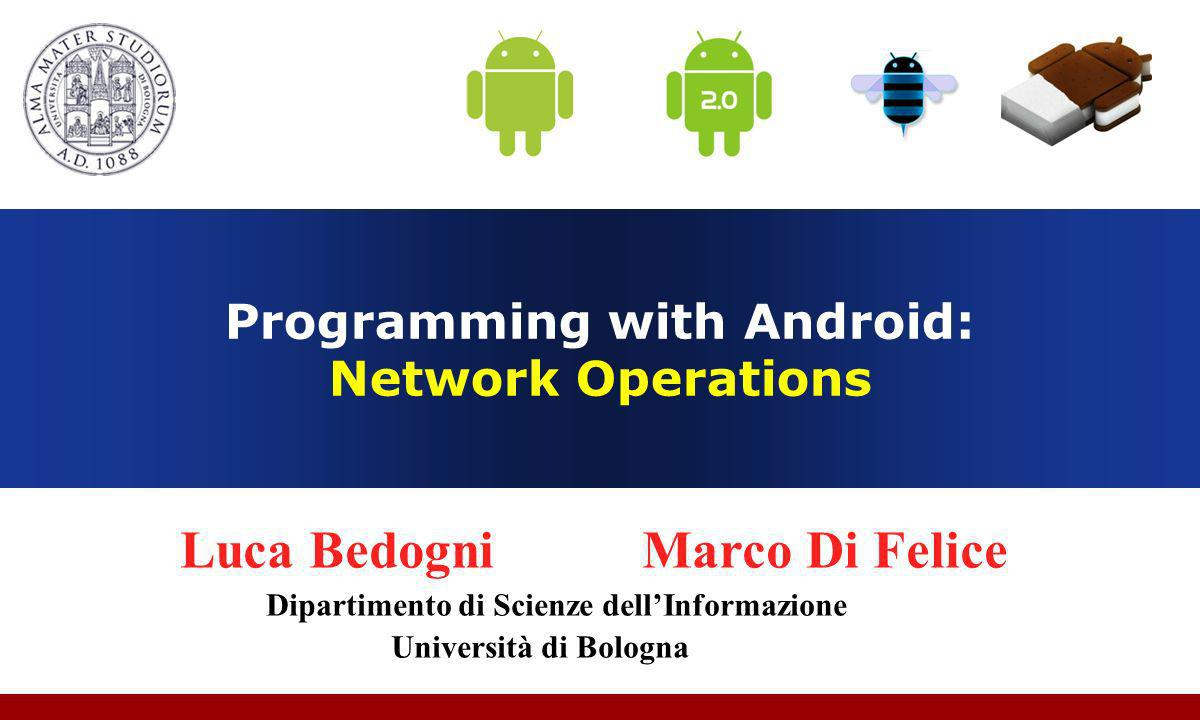 Programming with Android: Network Operations