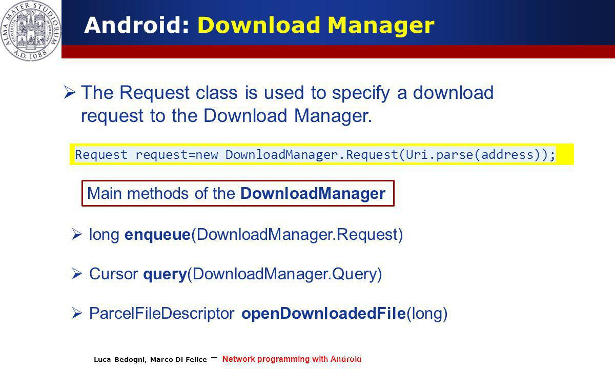 Android: Download Manager