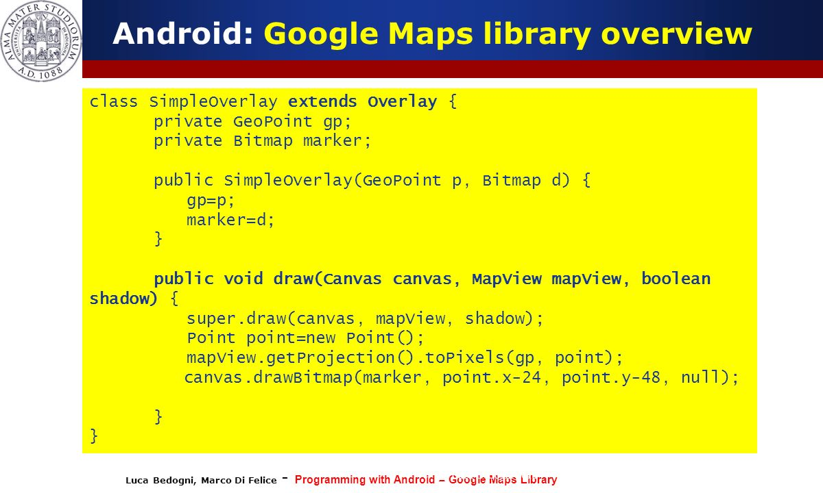 Programming with Android: The Google Maps Library - ppt