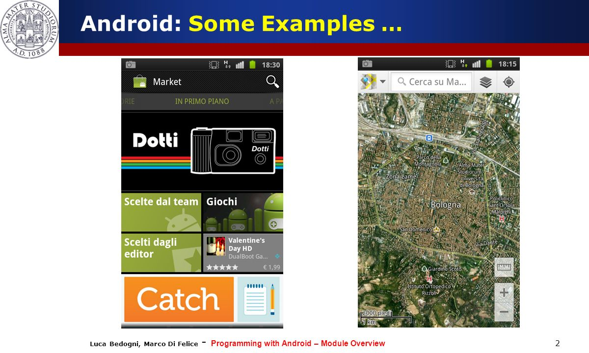 Android: Some Examples …