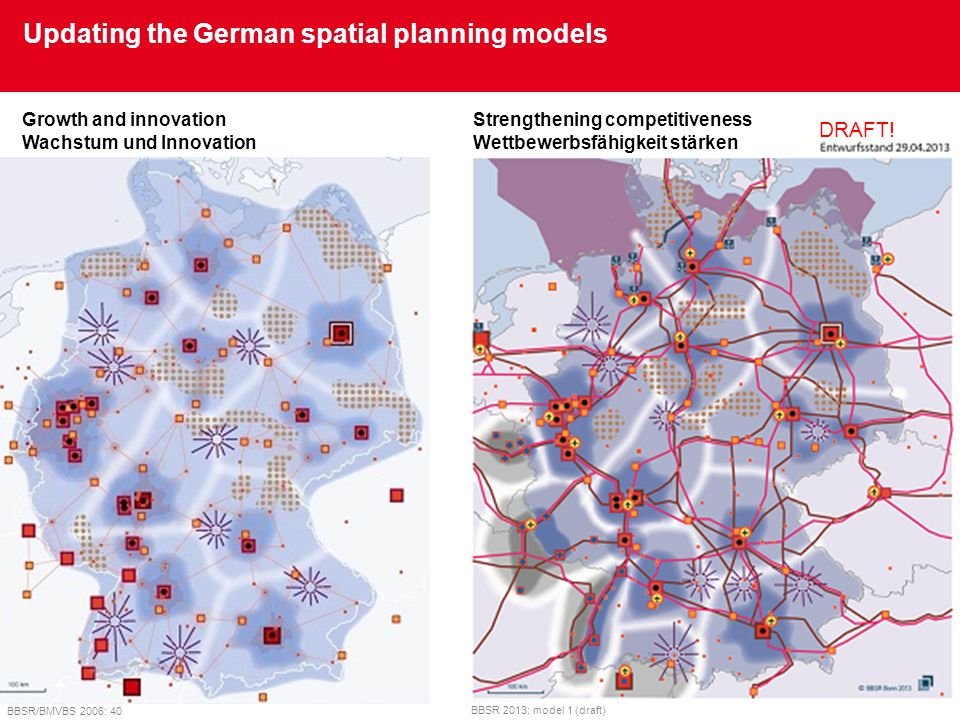Updating the German spatial planning models