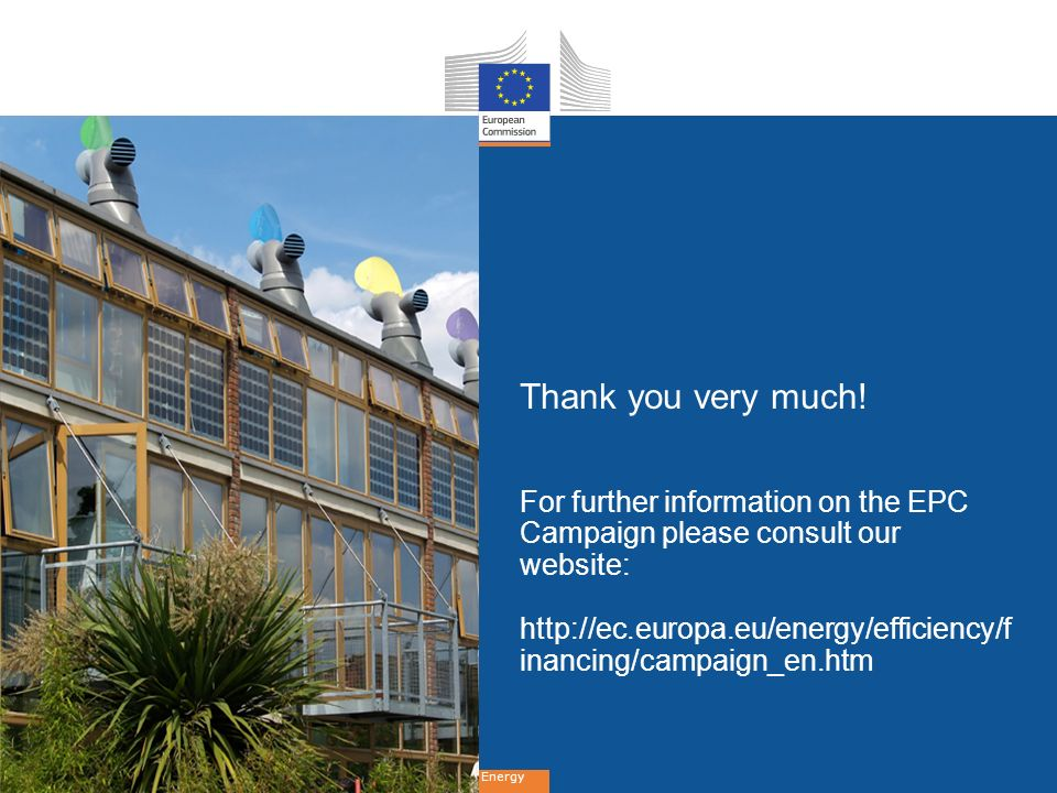 Thank you very much! For further information on the EPC Campaign please consult our website: