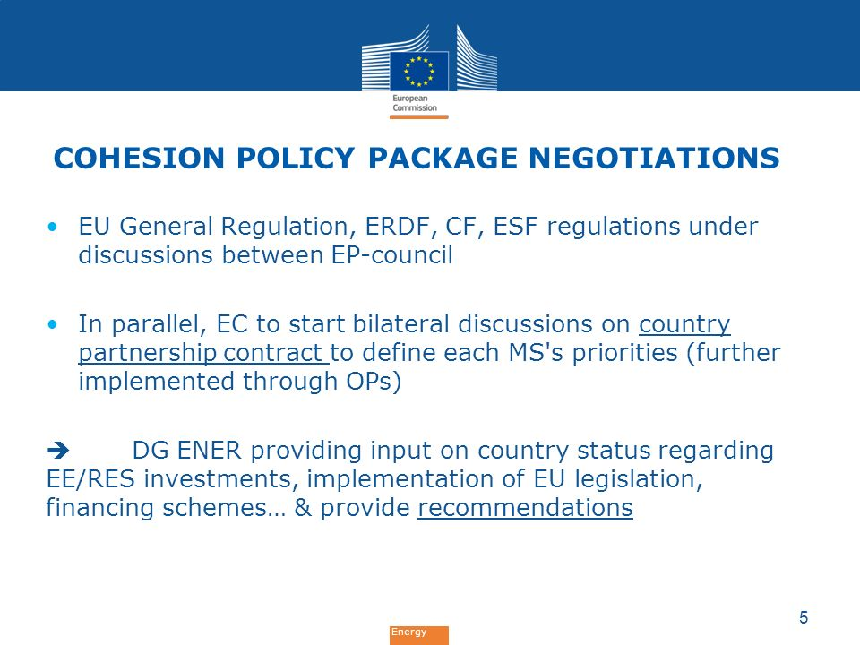 Cohesion Policy Package Negotiations