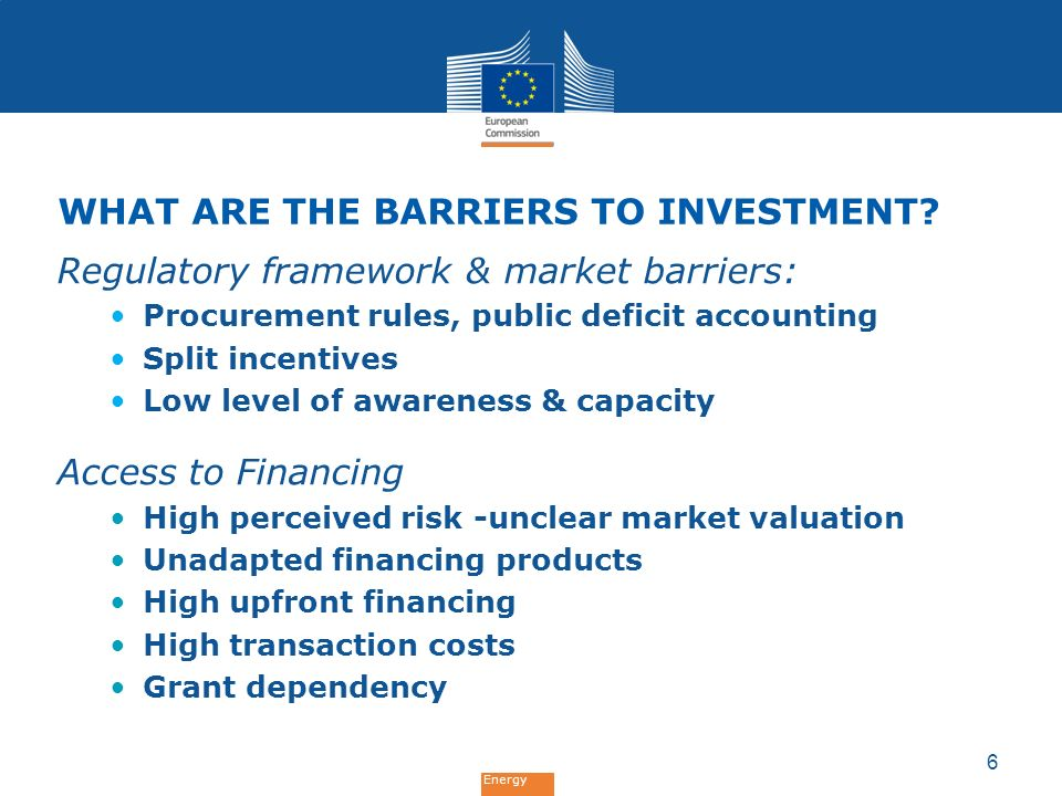 What are the barriers to investment
