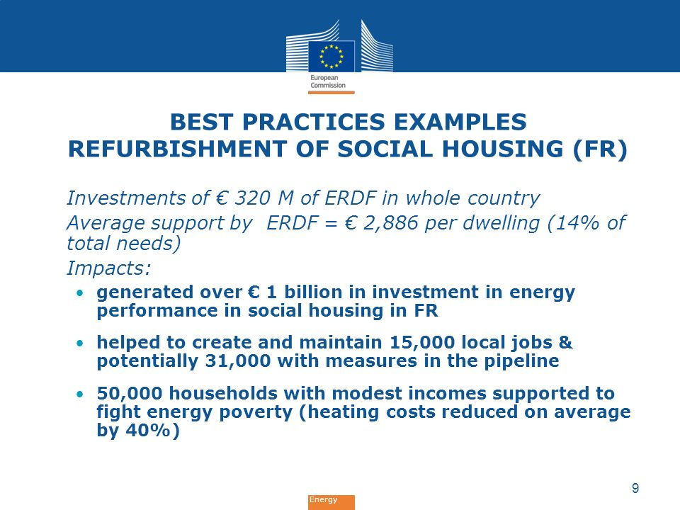 Best Practices examples Refurbishment of social housing (FR)