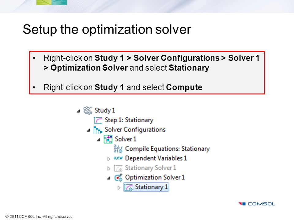 Setup the optimization solver