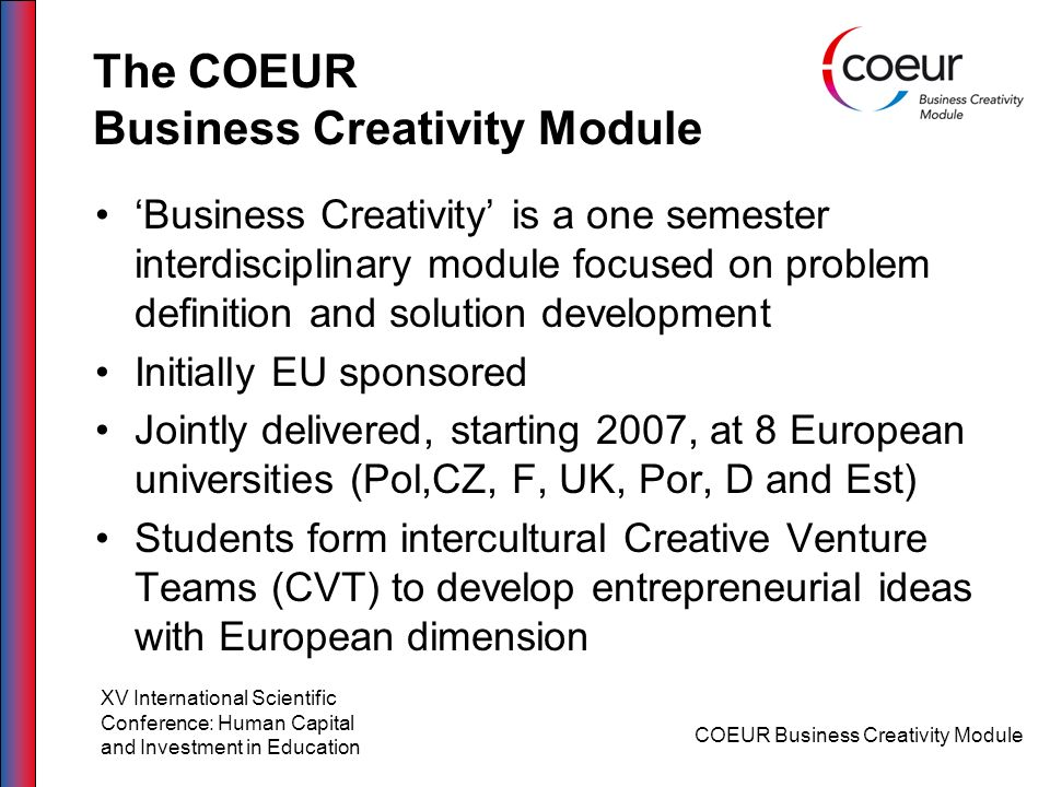 The COEUR Business Creativity Module